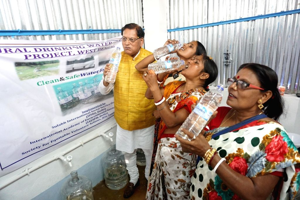 Sulabh International Social Service Organisation (SISSO) Founder Bindeshwar Pathak at the inauguration of Rural Drinking Water Supply project at Mirzapur village in West Bengal's Bolpur, on ... - Bindeshwar Pathak