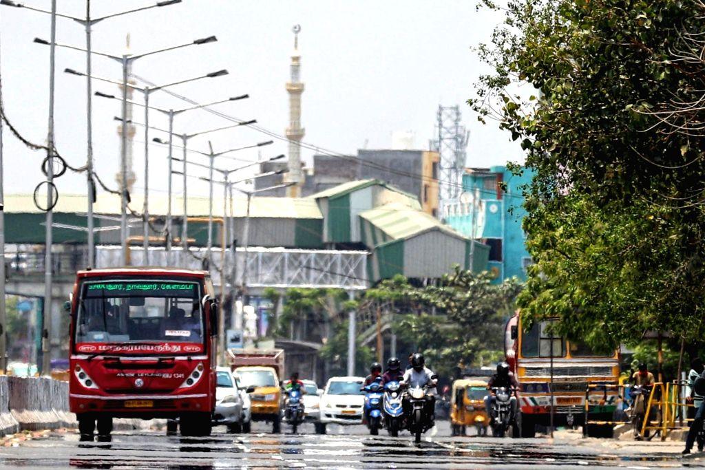 Summer in Chennai on Monday, April 12th, 2021(photo:R.Parthibhan,/IANS)