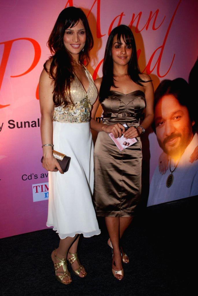 Sunali Rathod with a Guest at Roop kumar Rathod's Launches New Music Album 'Mann Pasand'.
