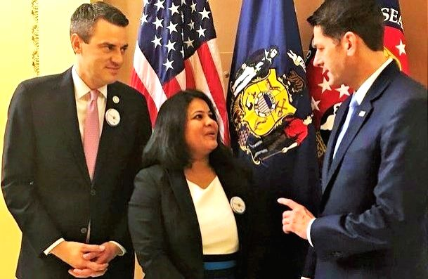 Sunayana Dumala, the widow of Srinivas Kuchibhotla who was the victim of a hate crime last year in Olathe, Kansas, was a guest at the State of the Union address delivered by President Donald Trump at ... - Paul Ryan
