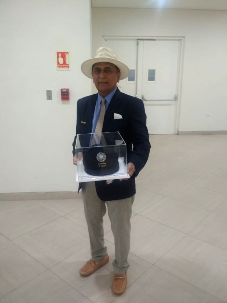 Sunil Gavaskar felicitated on 50th anniversary of his Test debut