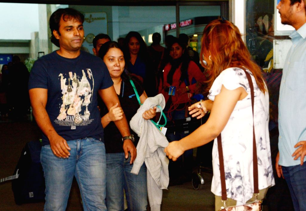 Sunil James, a Merchant Navy Captain who was released from a jail in Togo on 19th Dec arrives at Chhatrapati Shivaji International Airport in Mumbai on Dec.20, 2013.