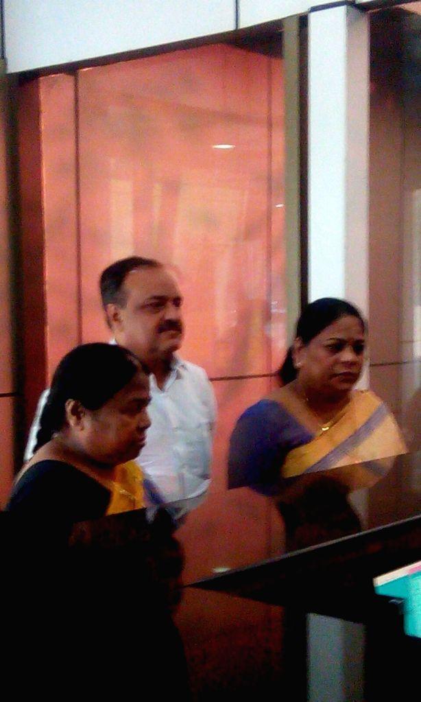 Sunita Chavan and Malini Sakpal Chhota Rajan's sisters at CBI office on Bhai Dooj