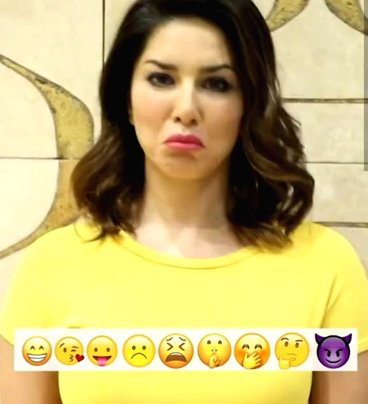 Sunny Leone acts out her favourite emojis (photo:Instagram) - Sunny Leone