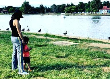 Sunny Leone, Daniel Weber take their kids to the lake. - Sunny Leone