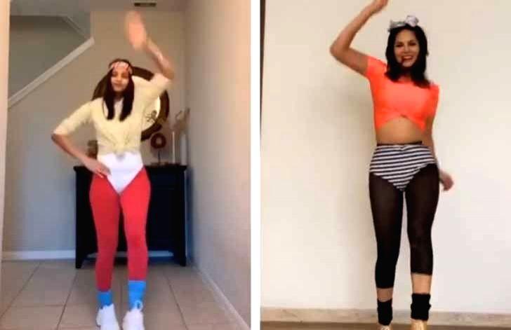 Sunny Leone dons '80s style for retro aerobics workout. - Sunny Leone