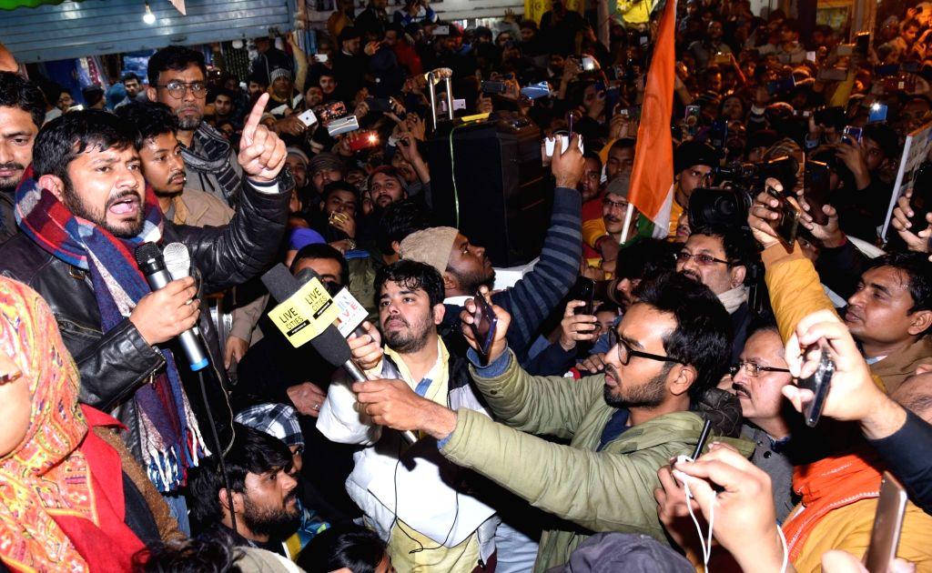 Supaul (Bihar), Feb 6 (IANS) Kanhaiya Kumar's anti-CAA rally in Supaul was stoned in which three people, including a woman, were injured. The incident took place on Wednesday evening at Mallik Chowk of Sadar police station. Kumar left for Saharsa wit - Kanhaiya Kumar