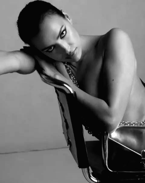 Supermodel Irina Shayk has ditched her clothes and bared it all for a new campaign of a fashion brand. The 33-year-old model went nude in a new campaign to promote Calvin Klein handbags. - Irina Shayk