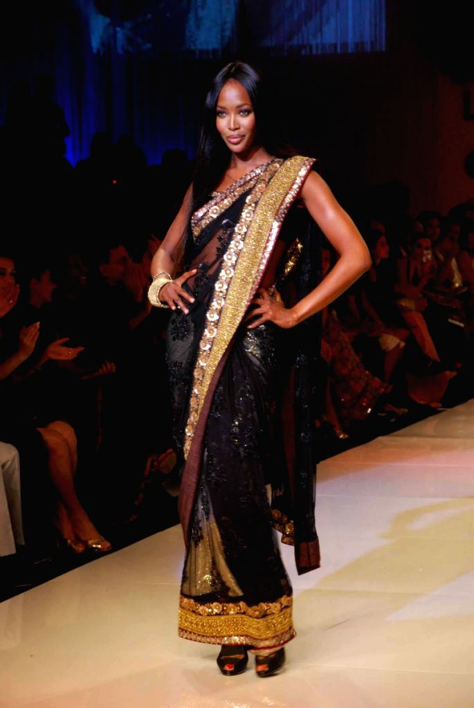 Supermodel Naomi Campbell on the ramp for 'Mai Mumbai' Show at Lakme fashion week 2009. - Naomi Campbell
