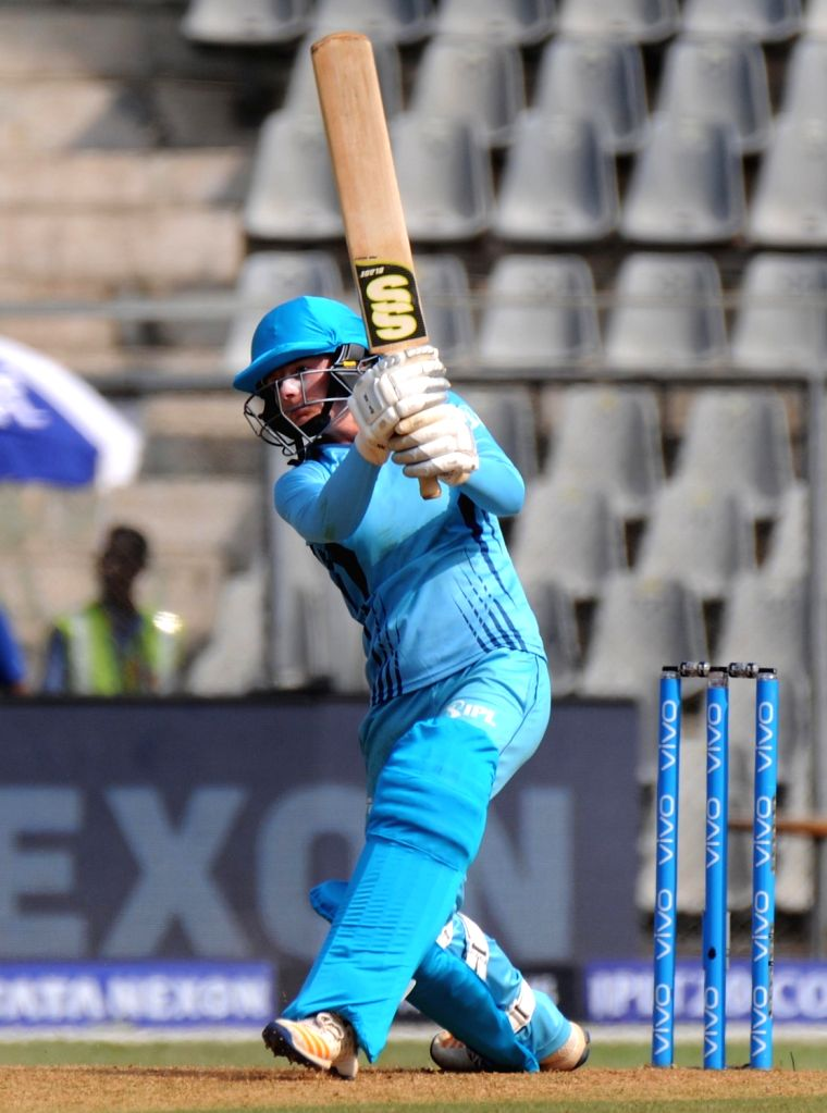 Supernovas' Danielle Wyatt in action during Women's T20 Challenge Match 2018 between Trailblazers and Supernovas at Wankhede Stadium in Mumbai on May 22, 2018.