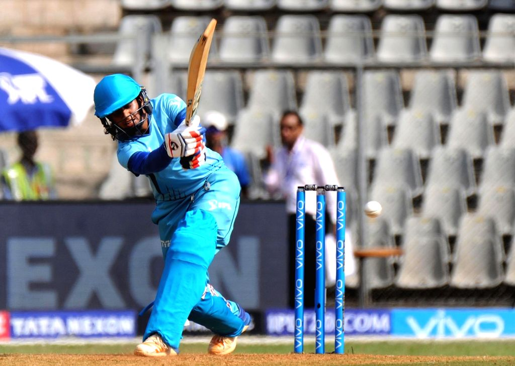 Supernovas' Lea Tahuhu in action during Women's T20 Challenge Match 2018 between Trailblazers and Supernovas at Wankhede Stadium in Mumbai on May 22, 2018.