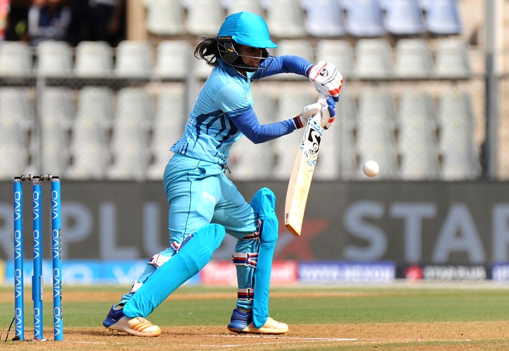 Supernovas' Mithali Raj in action during Women's T20 Challenge Match 2018 between Trailblazers and Supernovas at Wankhede Stadium in Mumbai on May 22, 2018.