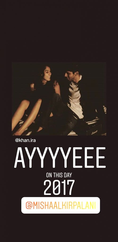 Superstar Aamir Khan's daughter Ira Khan celebrated two years of togetherness with her boyfriend Mishaal Kirpalani by posting a throwback photo of the couple on Instagram. - Aamir Khan