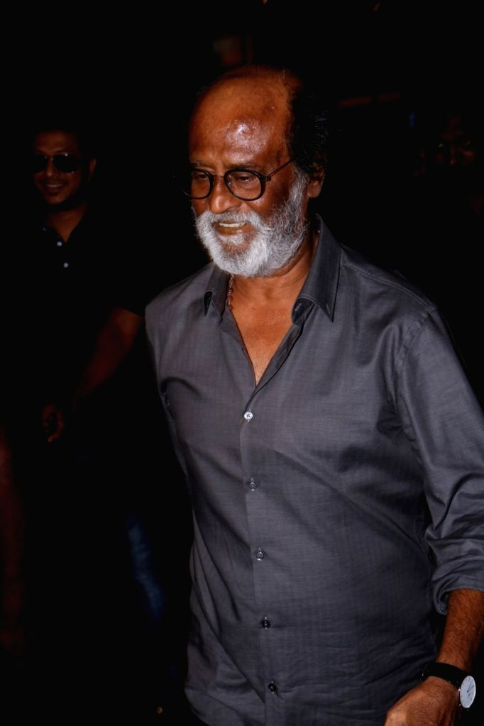 Superstar Rajinikanth spotted at Mumbai airport, on June 22, 2017.