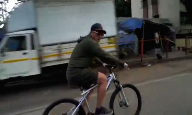 """Superstar Salman Khan on Sunday wished countrymen a """"Happy Republic Day"""" in a quite different manner. He posted a video of him biking on the roads of Mumbai, urging everyone to stay fit and ... - Salman Khan"""