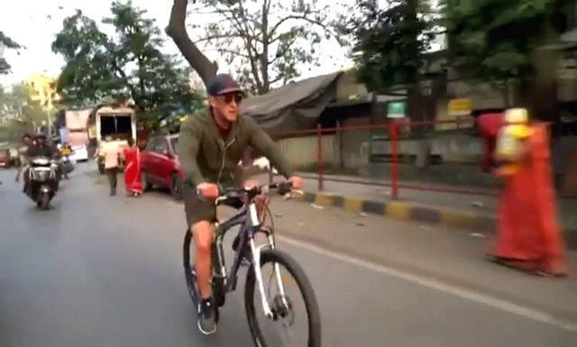 """Superstar Salman Khan on Sunday wished countrymen a """"Happy Republic Day"""" in a quite different manner. He posted a video of him biking on the roads of Mumbai, urging everyone to stay fit and healthy. """"Keep being fit India ...Wish you all a very Happy  - Salman Khan"""