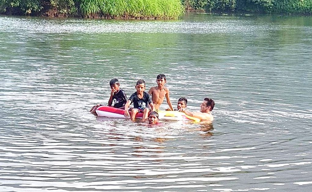"Superstar Salman Khan went out swimming with a group of ""cool kids"", and took to social media to share how he enjoyed a break from his busy schedule. Salman utilised his free time by taking a dip in the water with children. He shared a glimpse of his - Salman Khan"