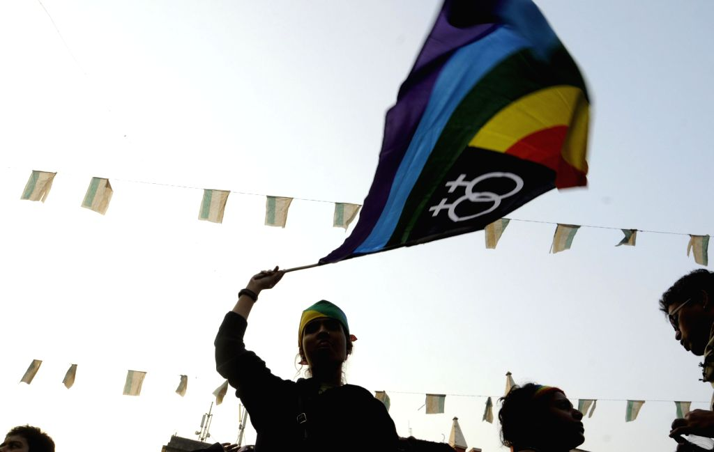 Supporters of LGBT community demonstrate as Supreme Court says homosexuality is an offence, in Kolkata on Dec.15, 2013.