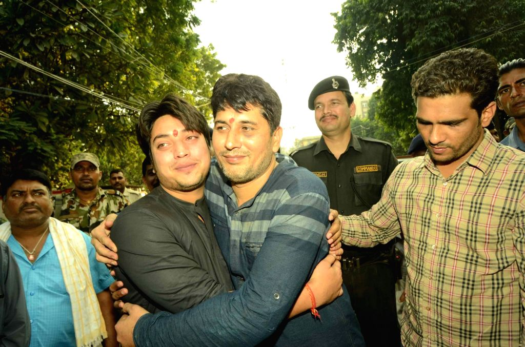 Suresh Sharma and Kapil Sharma, sons of a Delhi-based businessman who were kidnapped from Patna airport were rescued by Bihar Police from a village under Karja police station of Lakhisarai; in ... - Suresh Sharma and Kapil Sharma