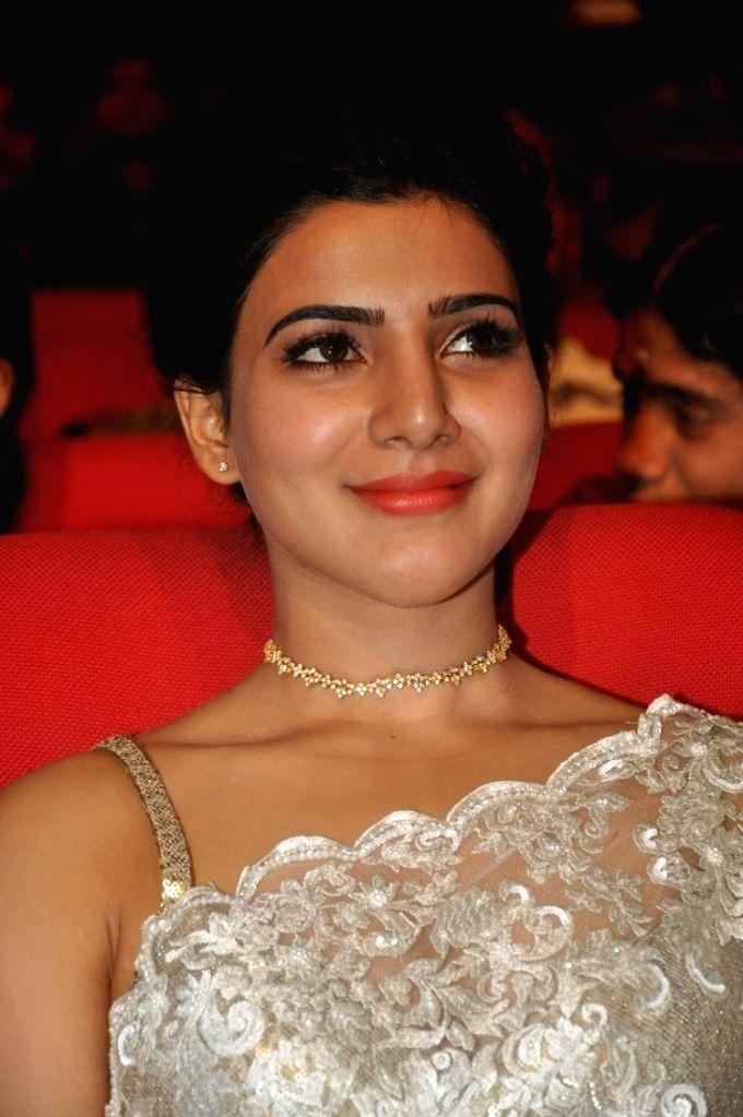 Suriya, Samtha, Nitya Menon acted 24 movie audio launch held at Shilpa Kala Vedika in Hyderabad - Nitya Menon