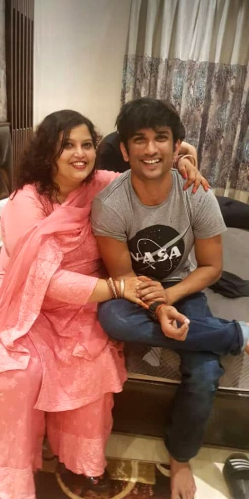 Sushant's sister-in-law rejects Rhea's claims that actor had strained ties with family.