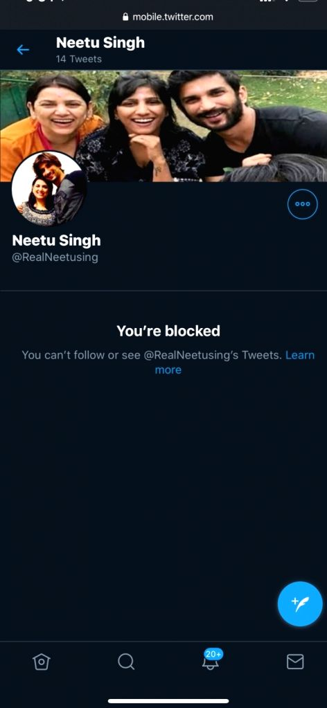 Sushant's sister Shweta alerts about fake Twitter account in eldest sister Neetu's name
