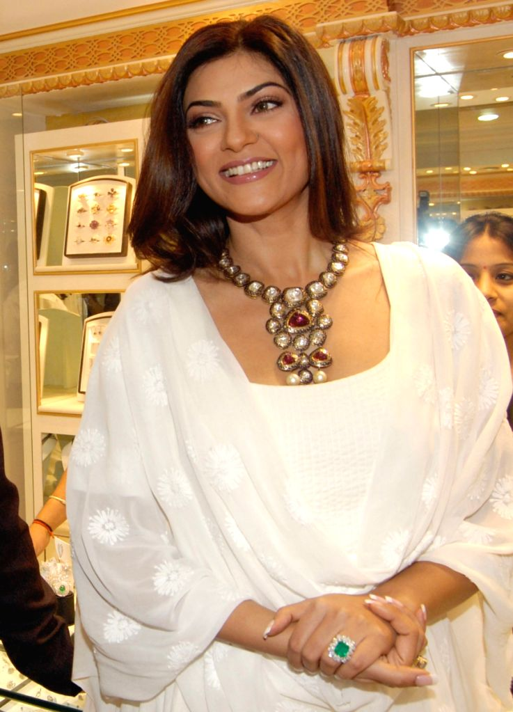 Sushmita Sen inaugurated the new showroom of PC jewellers , in Delhi on Friday.
