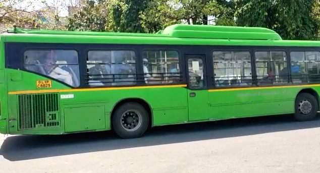 Suspected coronavirus patients being taken to a hospital in a bus from Delhi's Nizamuddin area where a religious congregation of 2000 people at a mosque has thrown up several corona ...