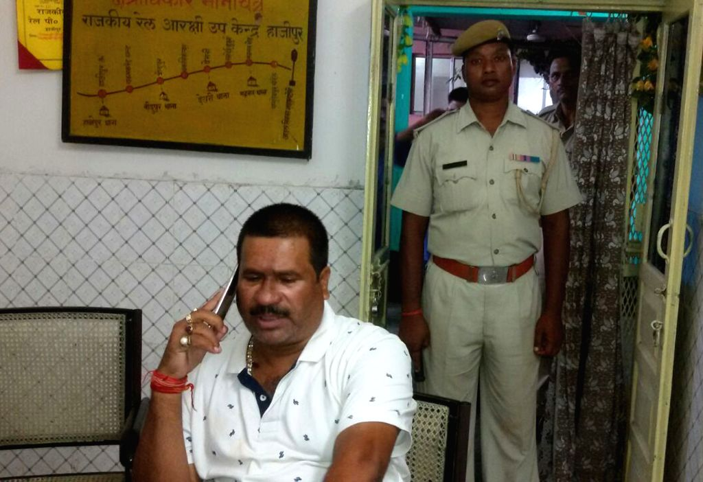 Suspended BJP legislator Tunnaji Pandey arrested for allegedly eve teasing a minor girl in a running train in Bihar's Vaishali district; at Hajipur railway station in Vaishali district of ... - Tunnaji Pandey