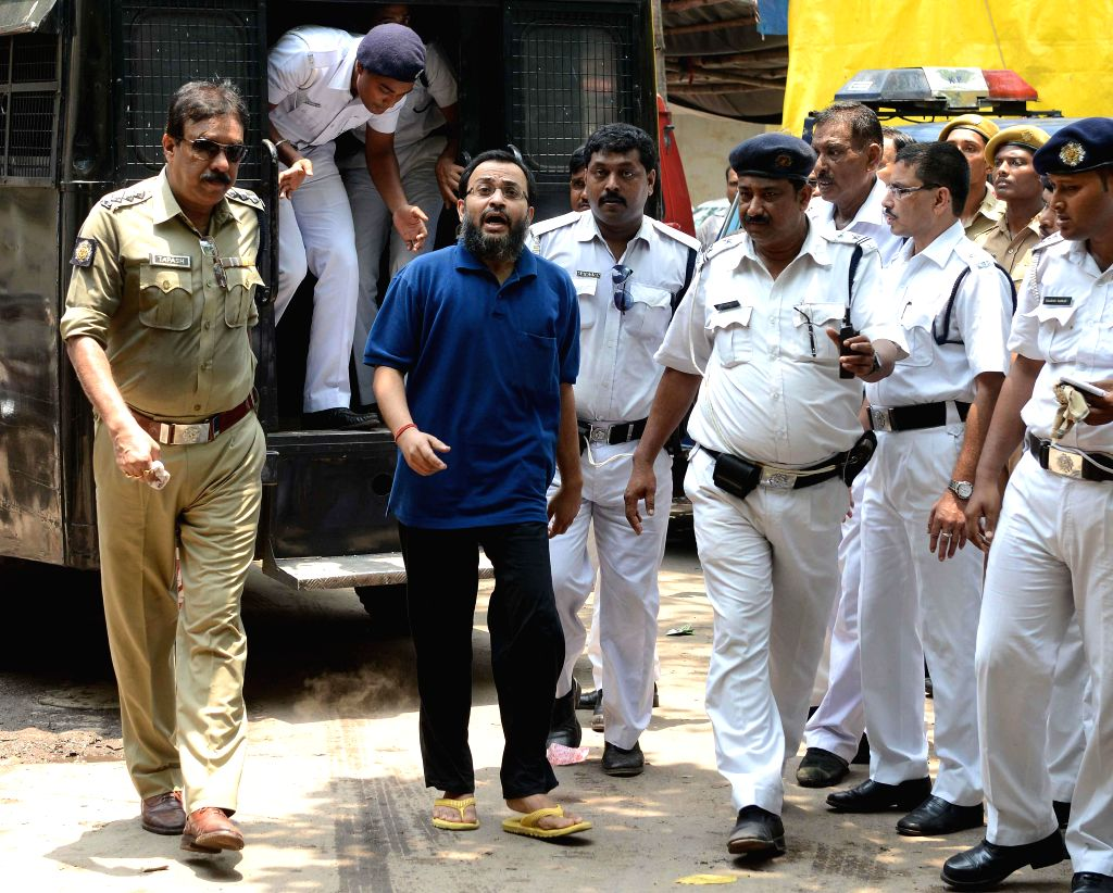 Suspended Trinamool Congress MP Kunal Ghosh produced at the Alipur Court in connection with Saradha group case in Kolkata on June 16, 2014.