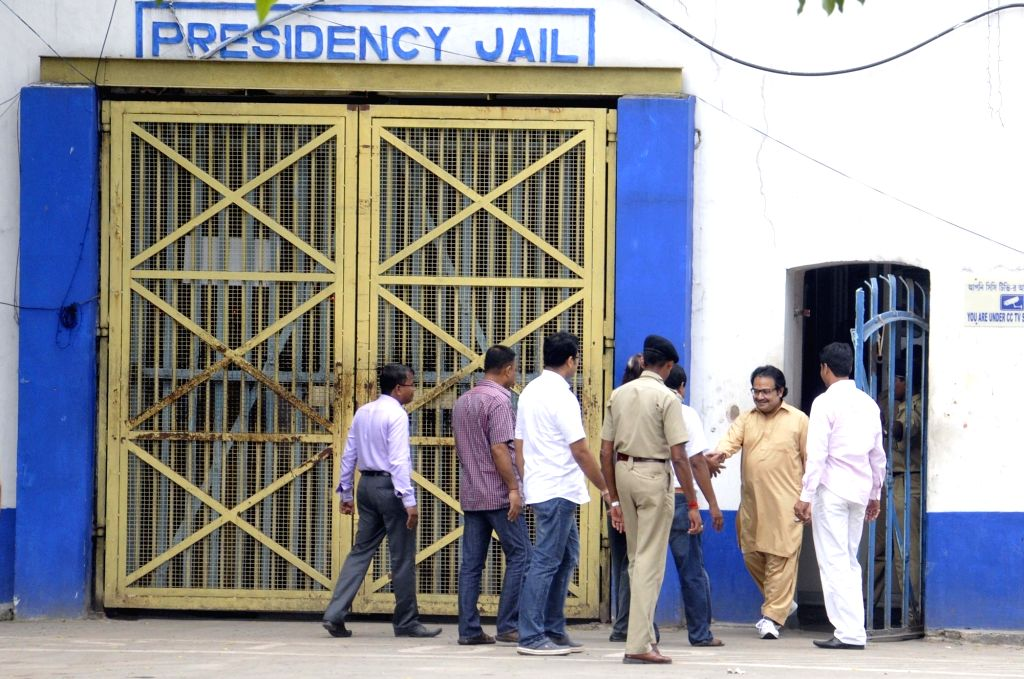 Suspended Trinamool Congress MP Kunal Ghosh, an accused in the multi-crore-rupee Saradha chit fund scam comes out of Presidency Jail on bail in Kolkata on Oct 7, 2016. He was granted interim ... - Kunal Ghosh
