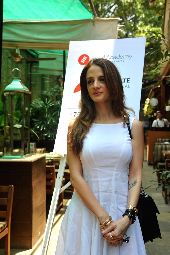 Suzanne Khan, ex wife of actor Hrithik Roshan during the launch of Pearl Academy`s Mumbai Campus, in Mumbai on April 15, 2014. - Hrithik Roshan and Suzanne Khan