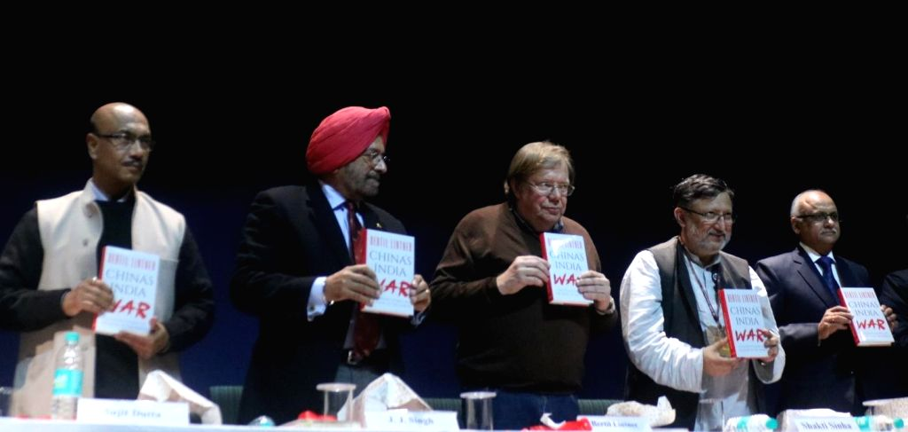 """Swedish journalist Bertil Lintner during launch of his book """"China's India War"""" in New Delhi, on Dec 6, 2017."""
