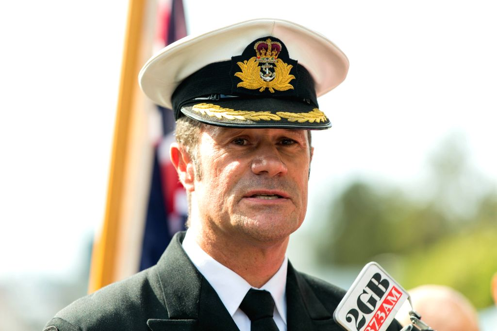 SYDNEY, April 19, 2016 - The Royal Australian Navy exercise director Captain Brian Schlegel speaks to media in Sydney, Australia, April 19, 2016. Australia and Japan kicked off on Tuesday a joint ... - Captain Brian Schlegel
