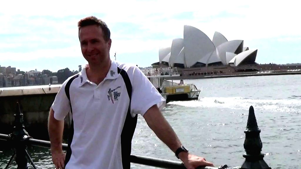 Former England captain Michael Vaughan during an ICC World Cup 2015 ​programme organised at the Sydney Opera House in Sydney, Australia on March 24, 2015.