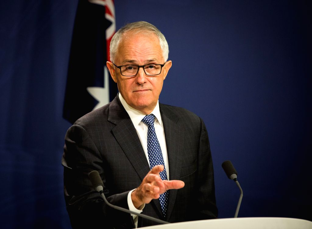 SYDNEY, Jan. 13, 2017 - Australian Prime Minister Malcolm Turnbull speaks during a press conference in Sydney, Australia, Jan. 13, 2017. Turnbull announced Australia would implement a new disclosure ... - Malcolm Turnbull