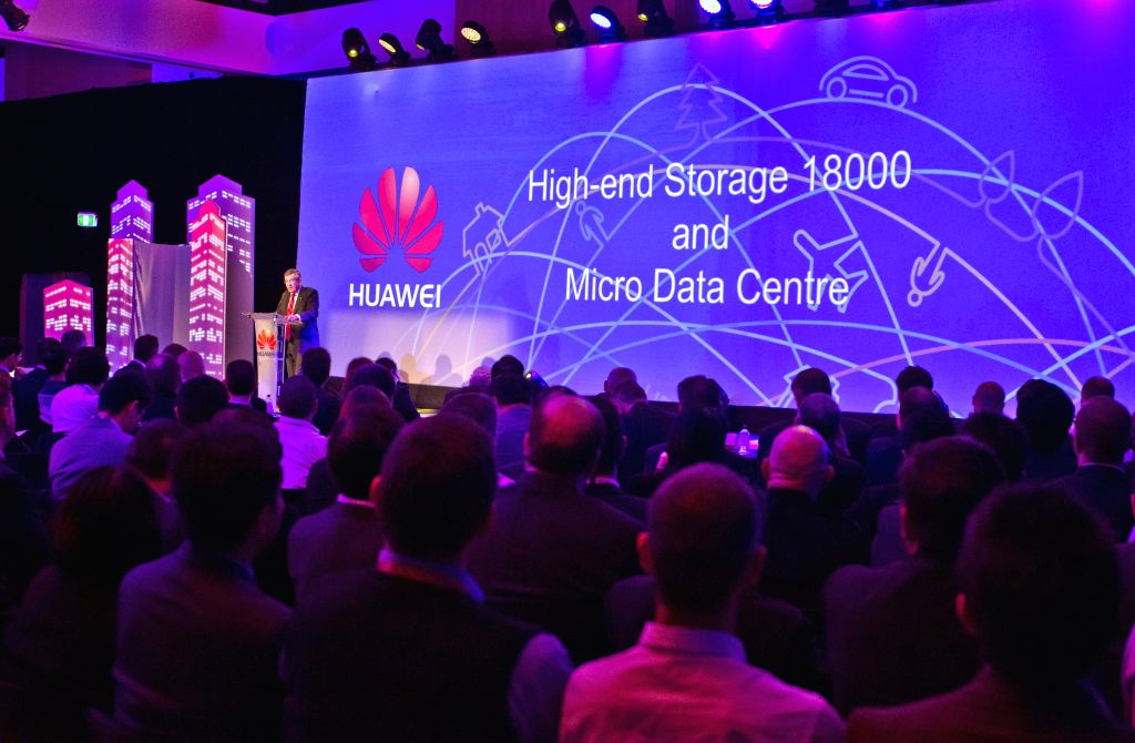 Photo taken on July 15, 2014 shows the venue of the ICT Roadshow held by Huawei, in Sydney, Australia. Huawei launched four new products for the Australian market at