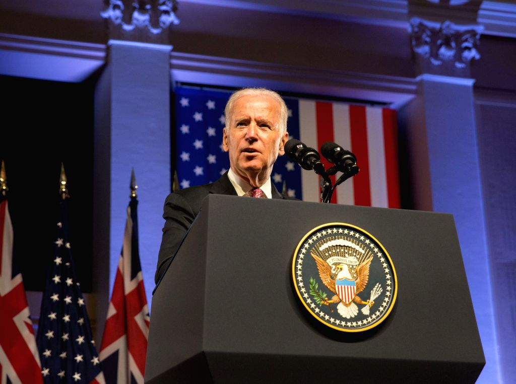 SYDNEY, July 20, 2016 (Xinhua) -- U.S. Vice President Joe Biden delivers a speech in Sydney, Australia, July 20, 2016. Australia is key to the core of the United States' Asia-Pacific pivot as each country has the other's back, visiting U.S. Vice Pres