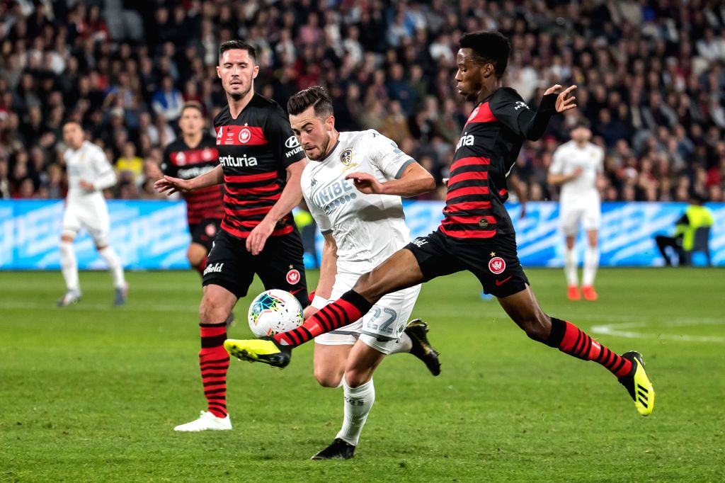 SYDNEY, July 20, 2019 - Jack Harrison (C) of Leeds United competes during an international friendly football match between Western Sydney Wanderers and Leeds United in Sydney, Australia on July 20, ...