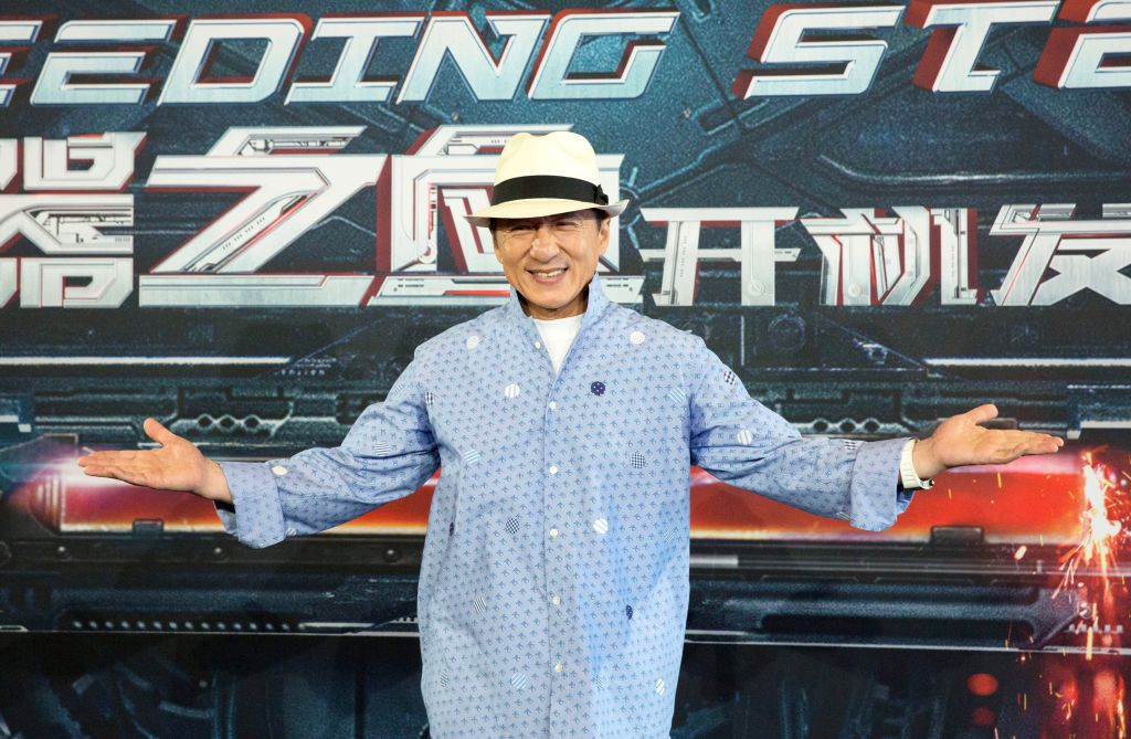 """SYDNEY, July 28, 2016 - Actor Jackie Chan poses at the boot ceremony of the film """"Bleeding Steel"""" in Sydney, Australia, July 28, 2016. The science-fiction thriller """"Bleeding ... - Jackie Chan"""