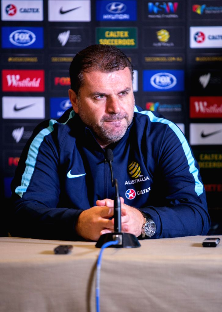 SYDNEY, June 3, 2016 - Coach of Australian soccer team Ange Postecoglou attends a pre-match press conference in Sydney, Australia, June 3, 2016. A friendly match between Greece and Australia will be ...
