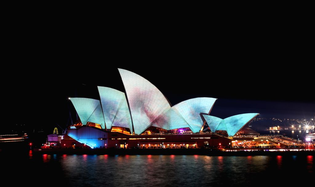 SYDNEY, May 24, 2019 - Photo taken on May 24, 2019 shows the Sydney Opera House during the Vivid Sydney light show in Sydney, Australia.