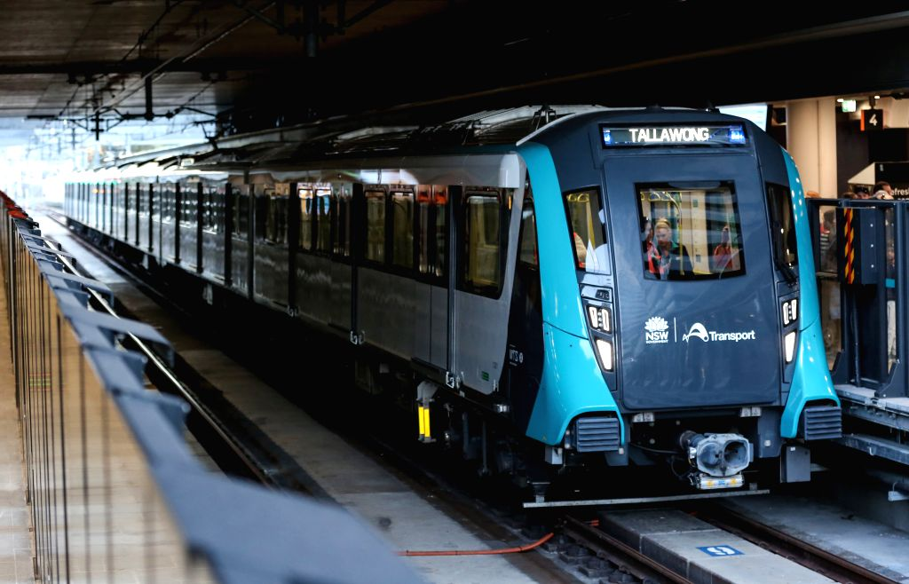 SYDNEY, May 26, 2019 - A driverless train of the newly-opened Sydney Metro Northwest pulls into Chatswood Station in Sydney, Australia, May 26, 2019. Sydney's new driverless northwest Metro opened on ...