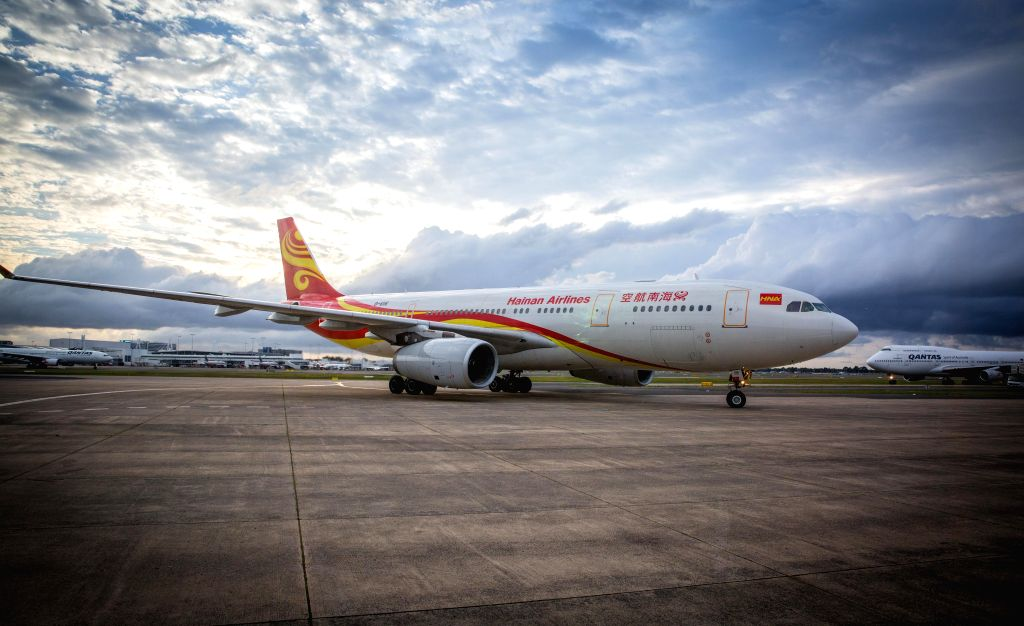 SYDNEY, Sept. 13, 2016 - Hainan Airlines?A330 aircraft from Changsha lands at Sydney Airport, in Sydney, Australia, Sept. 13, 2016. Hainan Airlines' new service from Changsha touched down for the ...