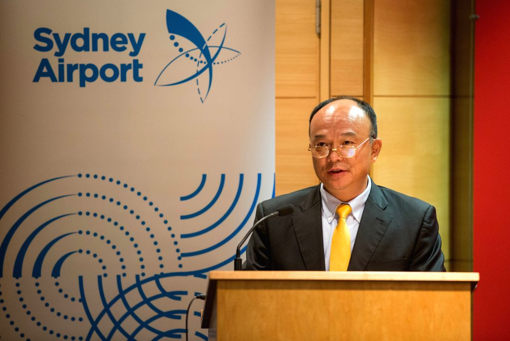 SYDNEY, Sept. 13, 2016 - Vice president of Hainan Airlines Ming Pu speaks on the inaugural ceremony, in Sydney, Australia, Sept. 13, 2016. Hainan Airlines' new service from Changsha touched down for ...