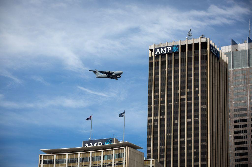 SYDNEY, Sept. 15, 2016 - A Royal Australian Air Force (RAAF) C-17A Globemaster flies over Circular Quay in Sydney, Australia, on Sept. 15, 2016. An RAAF C-17A Globemaster flew over Sydney to ...