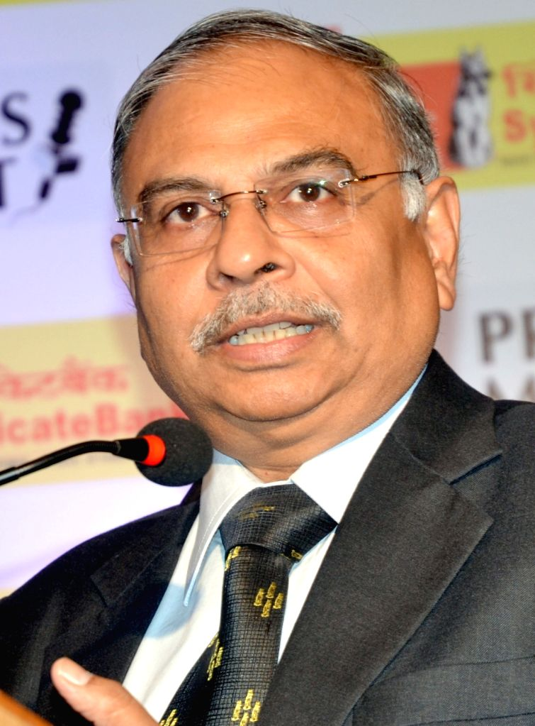 Syndicate Bank Managing Director and Chief Executive Officer Arun Shrivastava addresses a press conference in Bengaluru on Oct 28, 2015.