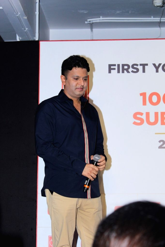 T-Series Chairman and Managing Director Bhushan Kumar during a programme, where music record label and film production company was officially certified a Guinness World Record holder for ... - Bhushan Kumar