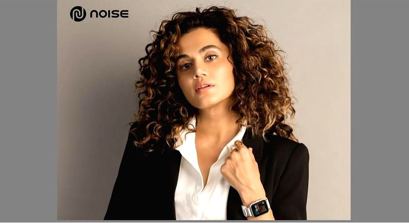 Taapsee Pannu promotes smart wearables.(photo:IANSLIFE)
