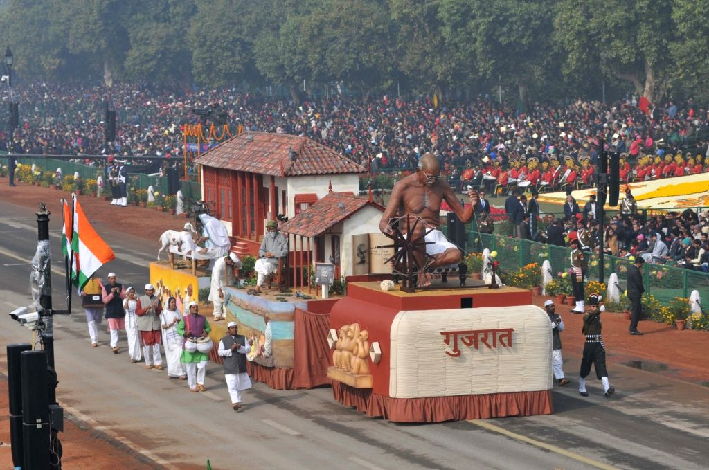 Tableau of Gujarat during Republic Day Parade 2018 on Rajpath in New Delhi Jan 26, 2018.